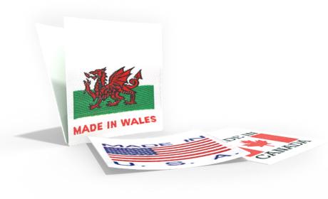 Geweven Labels met vlag