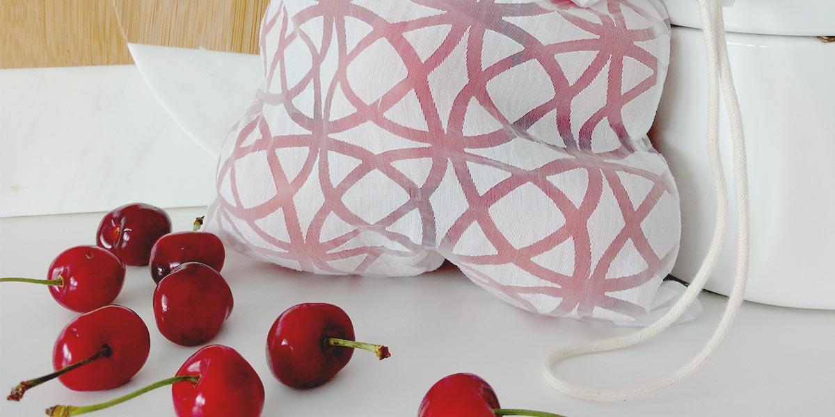 DIY herbruikbare groenten & fruit zak