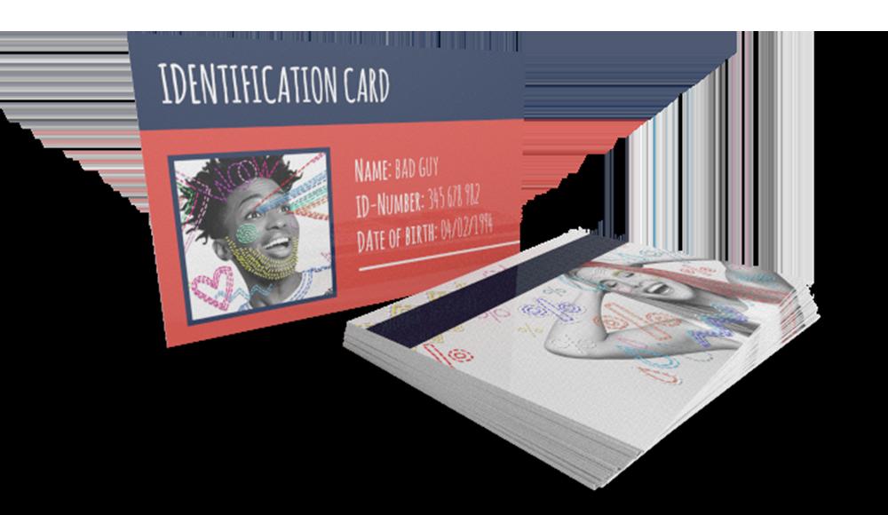 Gedrukte plastic kaarten - met jouw logo