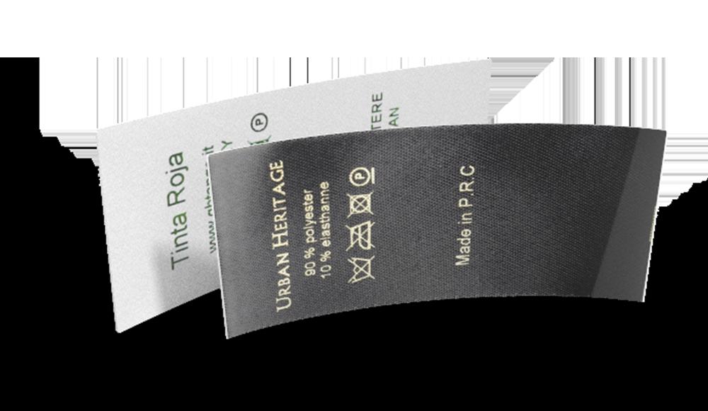 Bedrukte labels - lang