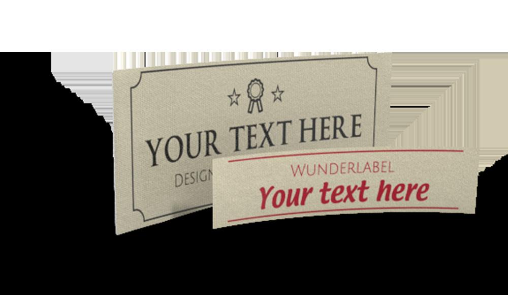 Bedrukte katoenen labels – met Tekst & Symbool