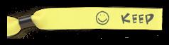 Bedrukte polsbandjes - met tekst & symbool