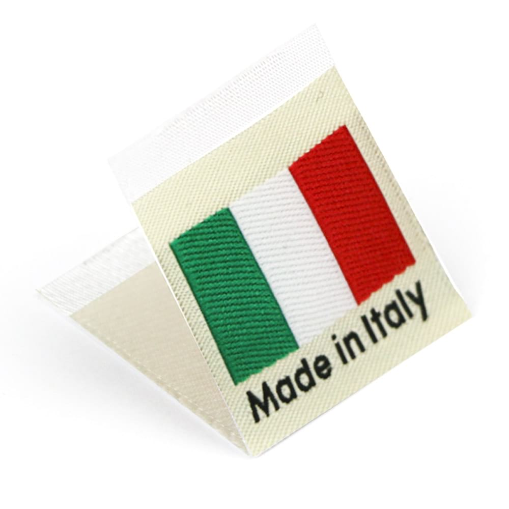 Geweven Labels vlag 'Made in Italy'