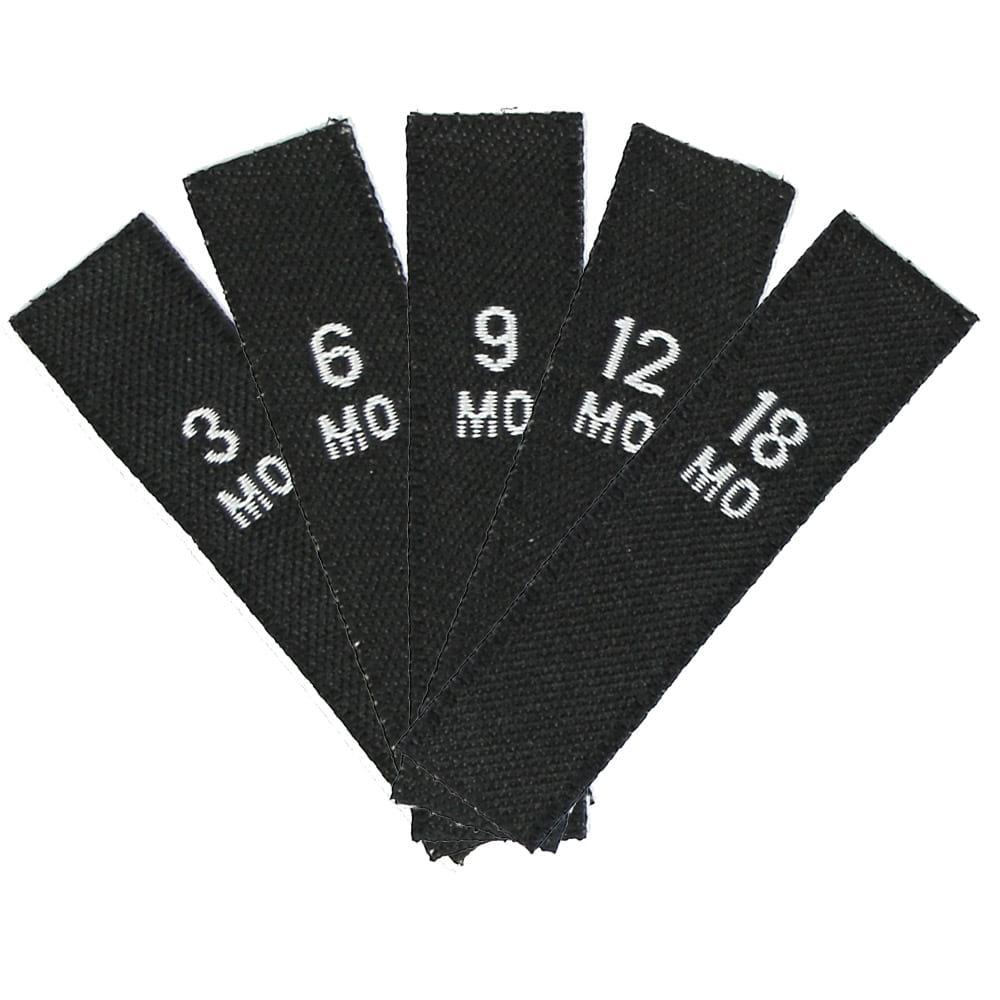 Set kledinglabels - Babymaten 3-18MO Zwart