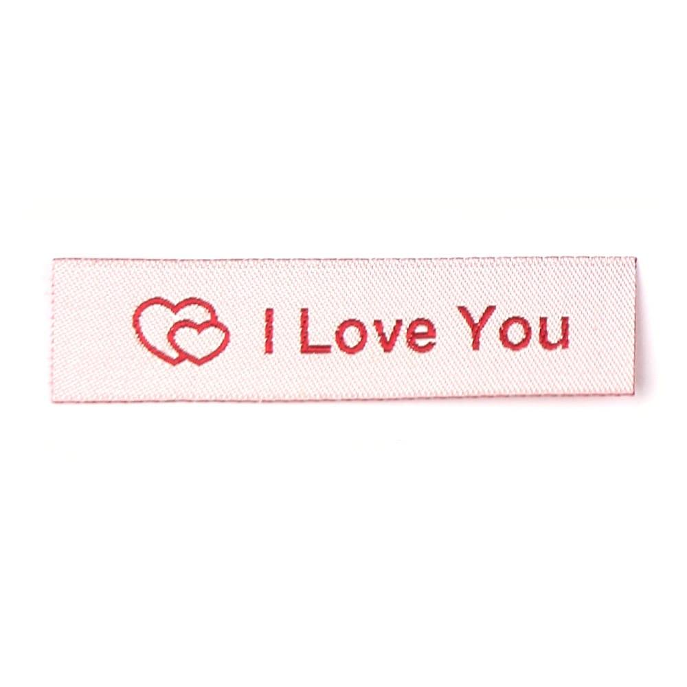 Geweven Labels - I Love You