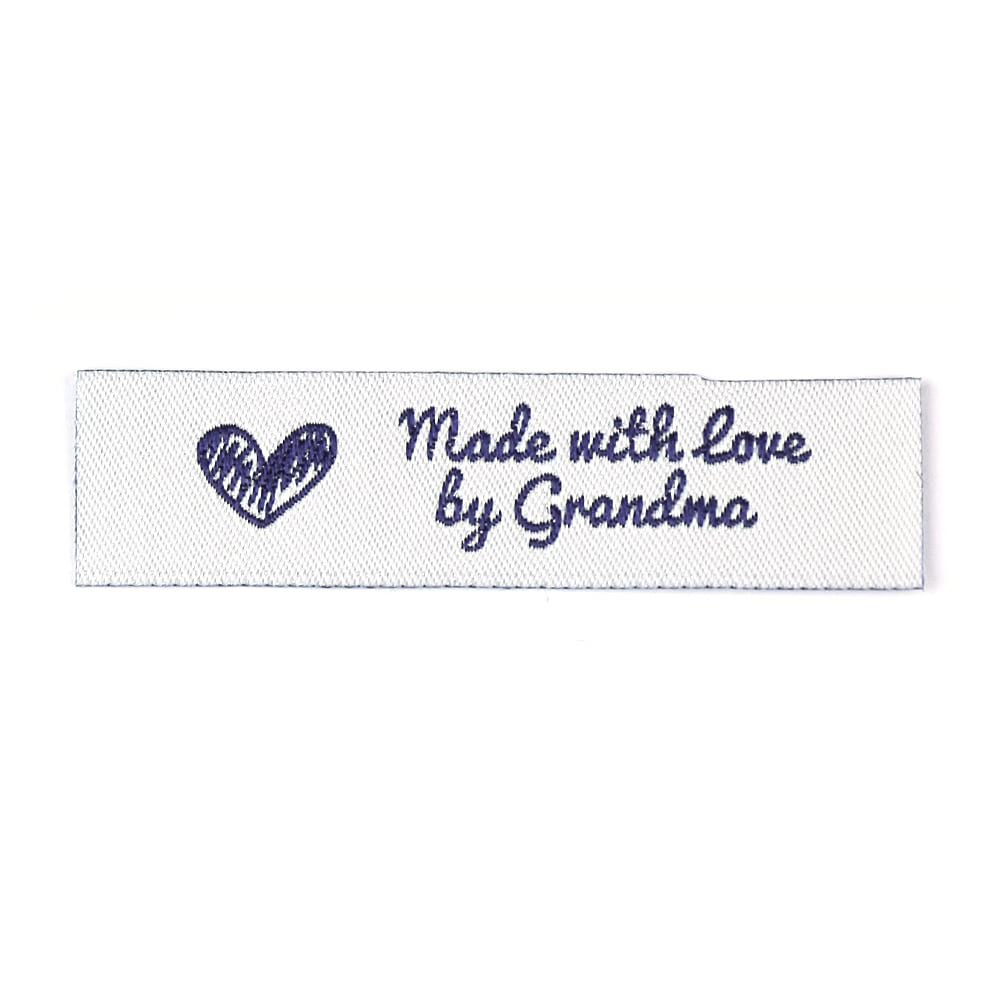 Geweven Labels - Made with Love by Grandma - Standaard