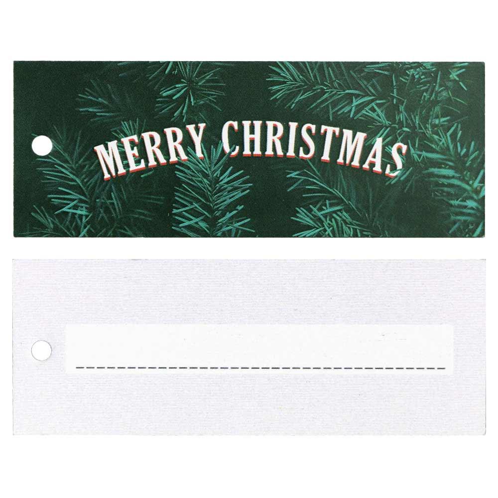 Hangtags - Merry Christmas - groen