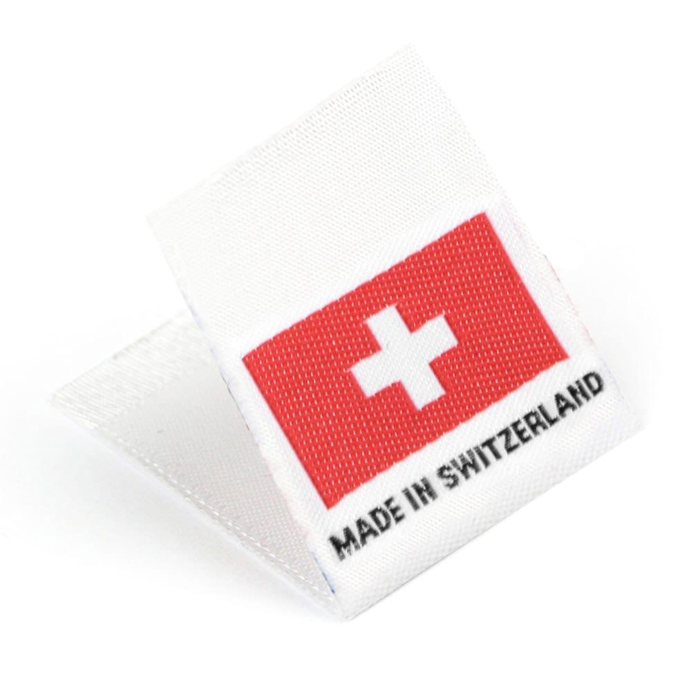 Geweven Labels vlag 'Made in Switzerland'